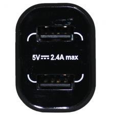 """Переходник с 2 USB портами """"Duete"""", 2,4А"""